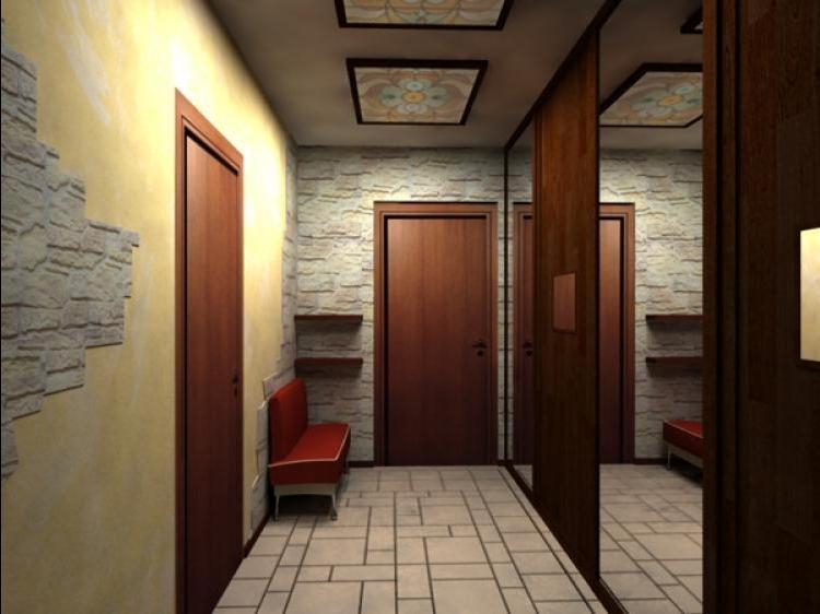 Мебель в длинном коридоре